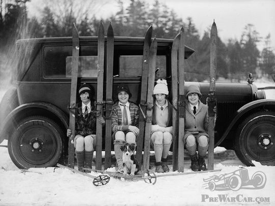 Ladies having fun in the snow