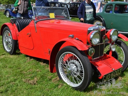Rare thirties MG Discovered by Archaeologists on Salisbury Plain