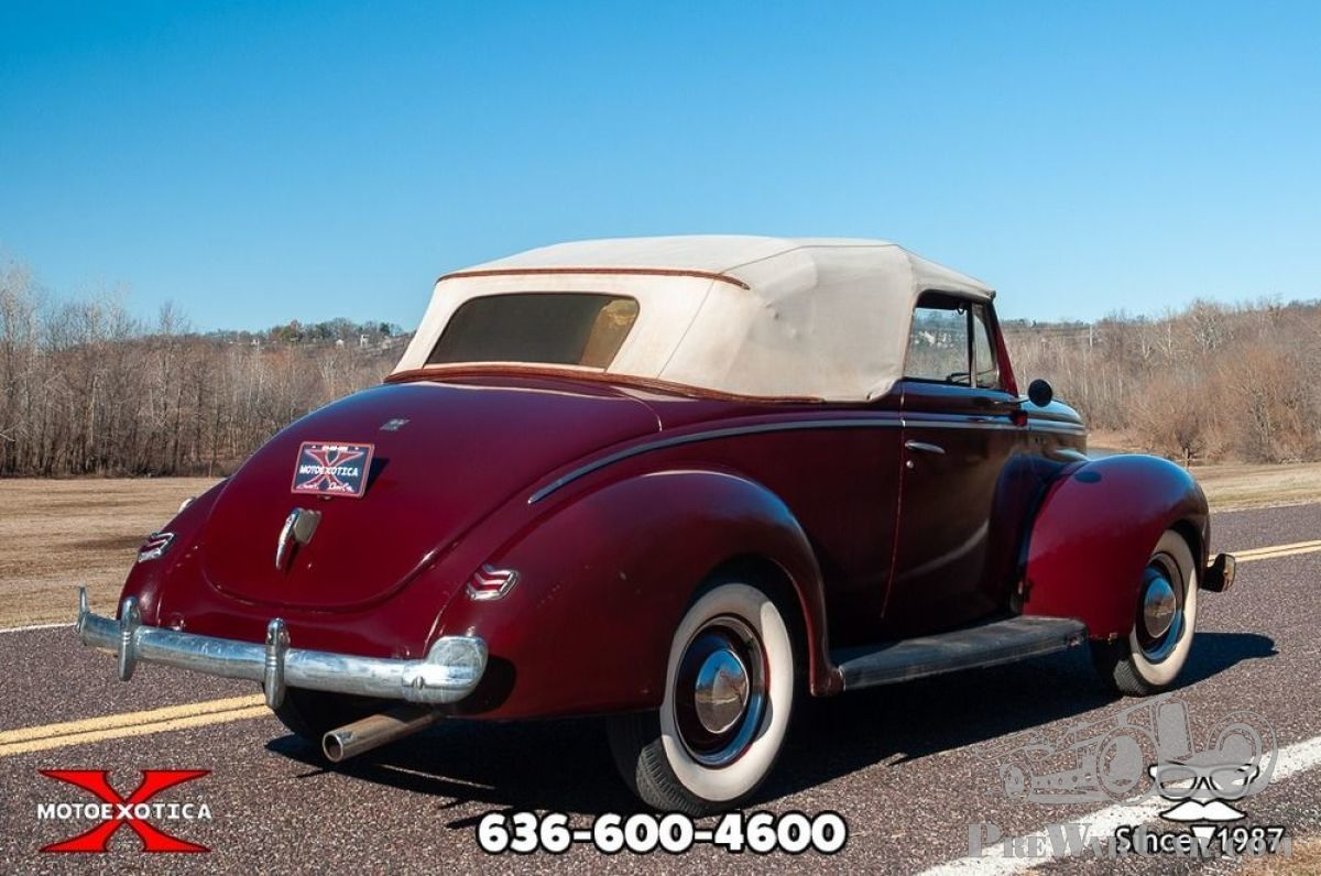 Car Ford Deluxe Convertible Club Coupe 1940 for sale - PreWarCar